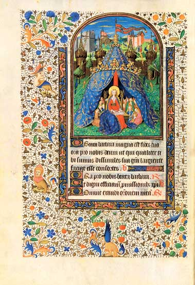 St. Barbara, Hl. Barbara. Die heilige Barbara, Saint Barbara, Heures du Duc Louis XII, Stundenbuch des Heiligen Ludwigs, Hours, book of hours of Louis XII, Savoyen, Mitte 15. Jh., mid 15th century, Paris, Bibliothèque nationale