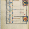 Kalenderblatt April, fol. 3v, Königspsalter, Royal Psalter, Sainte Chapelle, Paris, Bibliothèque de l'Arsenal, MS 1186, Ludwig der Heilige, King Louis the Saint, Blanche de Castille, Blanka von Kastilien, französische Buchmalerei, French book illumination, 13. Jahrhundert, 13. Jh., 13th century, französische Gotik, French Gothic, Psalter, psautier royal, Sainte-Chapelle, Saint Louis