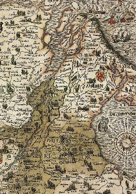 Caspar Vopelius: Rheinkarte von 1555