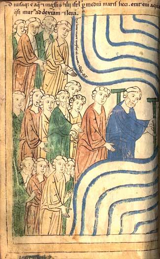 Moses teilt das Meer
