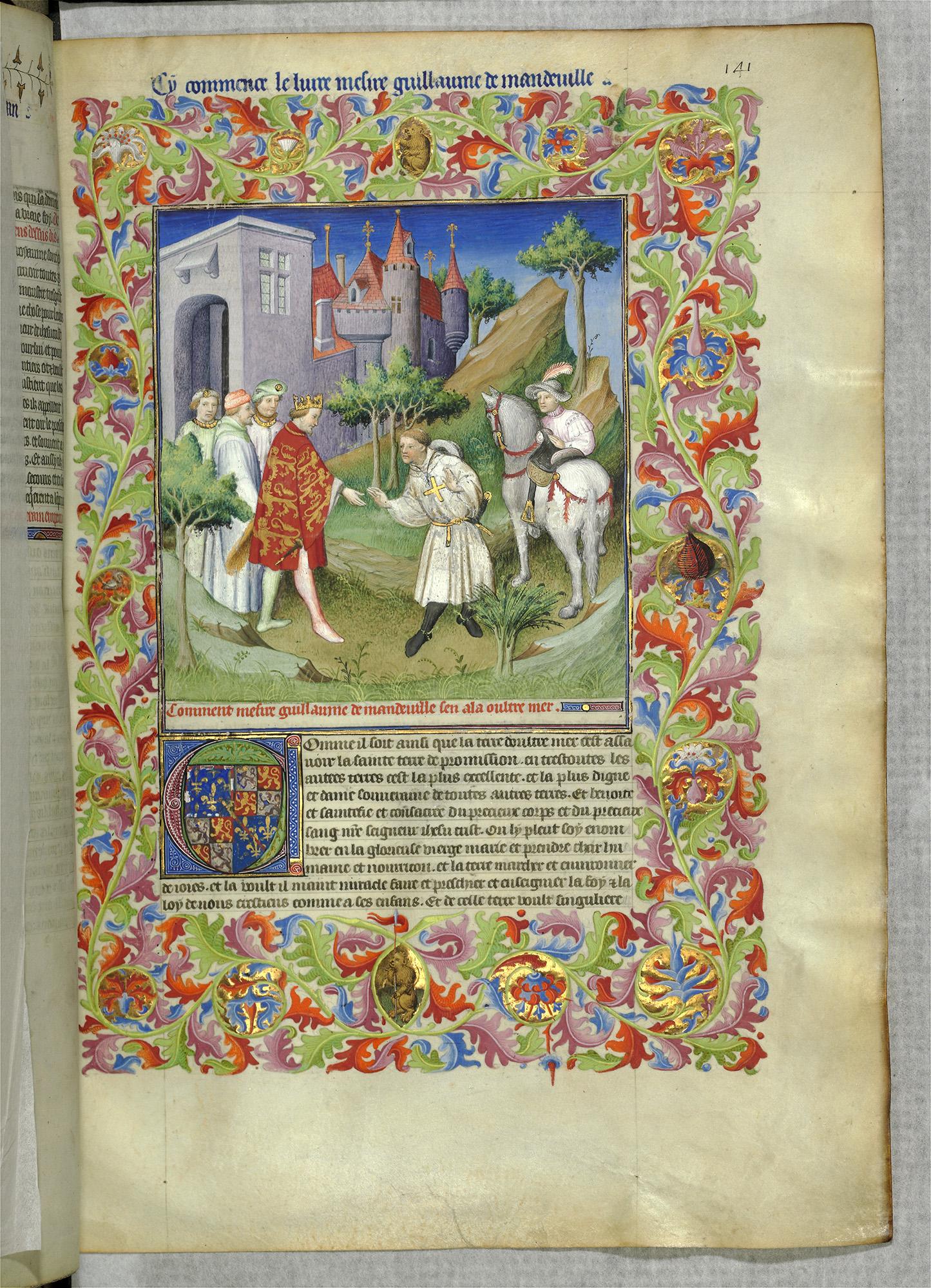 Jean de Mandeville beginnt seine Reise. MS 2810.