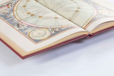 aufgeschlagenes Buch, Cellarius Himmelsatlas, Faksimile