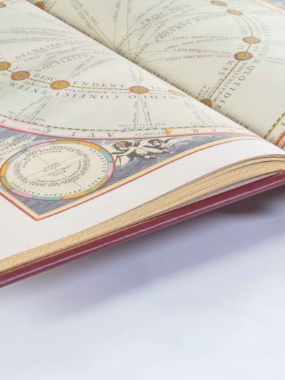 open book, Cellarius Sky Atlas, Facsimile