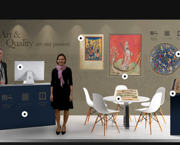 virtual exhibition booth during the Frankfurter Buchmesse